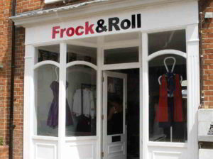 outside view Frock and Roll Shop Reading
