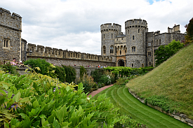 windsor castle gardens view